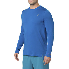 asics Seamless LS Shirt Men Race Blue Heather